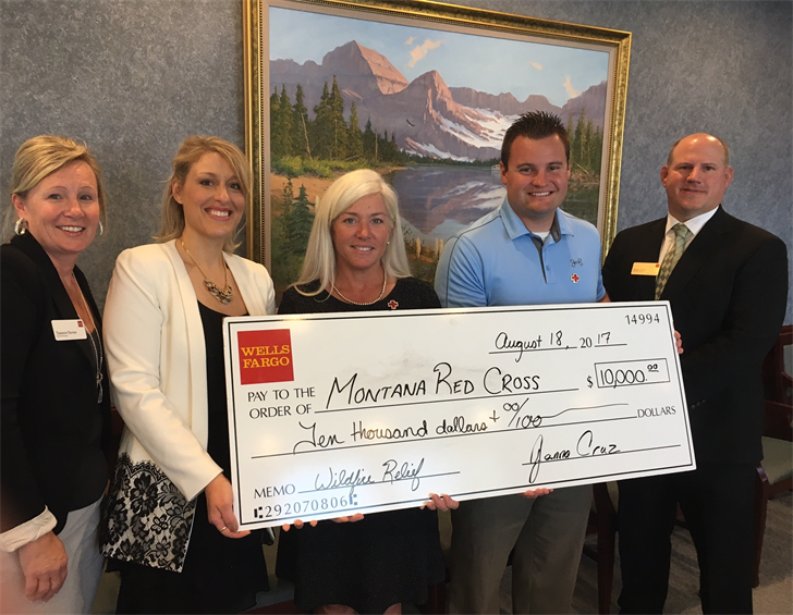 Wells Fargo donates $22,500 to Montana wildfire relief efforts