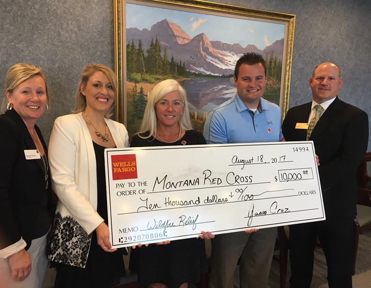 Wells Fargo donates $22,500 to Montana wildfire relief efforts